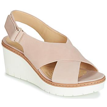 Čevlji  Ženske Sandali & Odprti čevlji Clarks PALM CANDID Nude