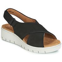Čevlji  Ženske Sandali & Odprti čevlji Clarks UN KARELY SUN Črna