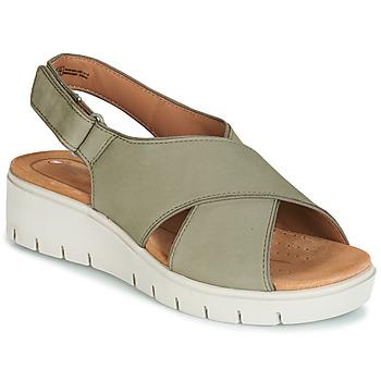 Čevlji  Ženske Sandali & Odprti čevlji Clarks UN KARELY SUN Zelena