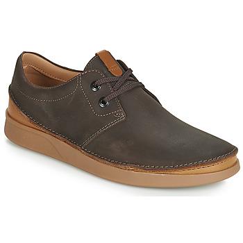 Čevlji  Moški Čevlji Derby Clarks OAKLAND LACE Kostanjeva