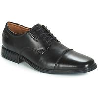Čevlji  Moški Čevlji Derby Clarks TILDEN CAP Črna