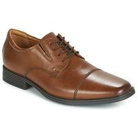 Čevlji  Moški Čevlji Derby Clarks TILDEN CAP Kostanjeva