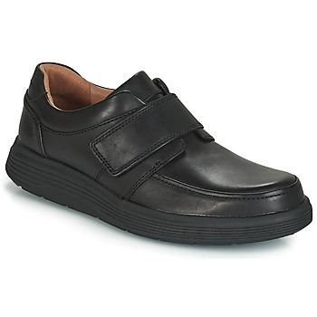 Čevlji  Moški Čevlji Derby Clarks UN ABODE STRAP Črna