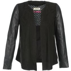 Oblačila Ženske Usnjene jakne & Sintetične jakne Naf Naf COCOTTE Črna