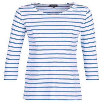 Oblačila Ženske Majice z dolgimi rokavi Armor Lux YAYAROULE Bela / Modra