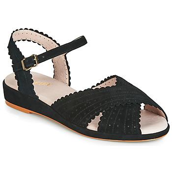 Čevlji  Ženske Sandali & Odprti čevlji Miss L'Fire BRIGITTE Črna