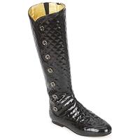 Čevlji  Ženske Mestni škornji    French Sole PUMPKIN Črna