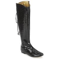 Čevlji  Ženske Mestni škornji    French Sole PRINCE Črna