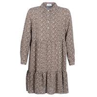 Oblačila Ženske Kratke obleke Betty London JECREHOU Bež / Kostanjeva