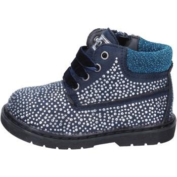 Čevlji  Deklice Gležnjarji Asso Gležnarji BT297 Modra