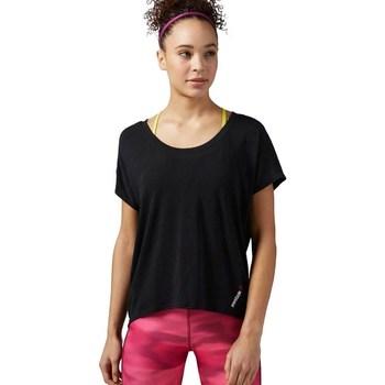 Oblačila Ženske Majice s kratkimi rokavi Reebok Sport One Series Burnout Črna