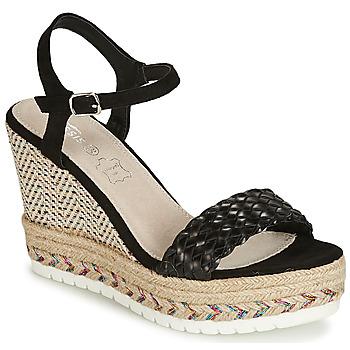 Čevlji  Ženske Sandali & Odprti čevlji Cassis Côte d'Azur CASSANDRA Črna