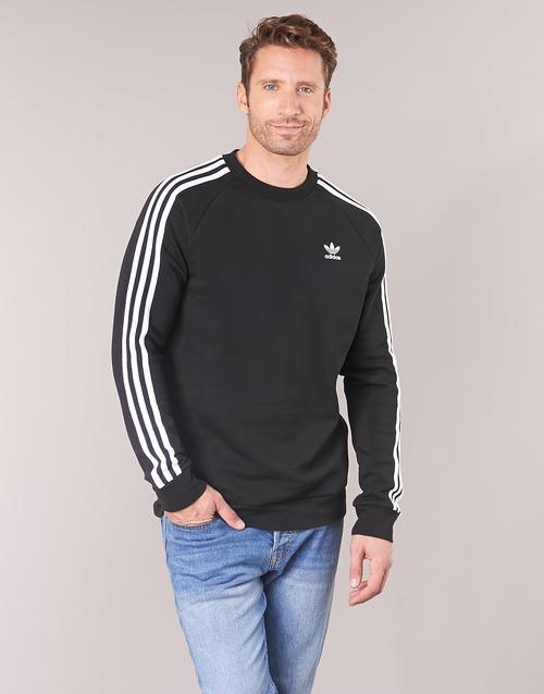 Oblačila Moški Puloverji adidas Originals 3 STRIPES CREW Črna
