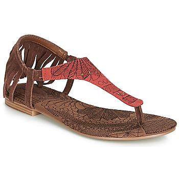 Čevlji  Ženske Sandali & Odprti čevlji Desigual SHOES_LUPITA_LOTTIE Cognac / Rdeča