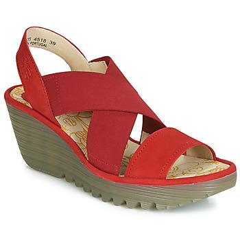 Čevlji  Ženske Salonarji Fly London YAJI Rdeča