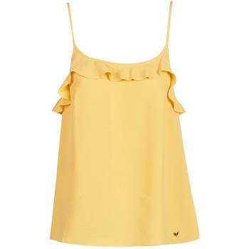 Oblačila Ženske Majice brez rokavov Les Petites Bombes AZITAFE Rumena