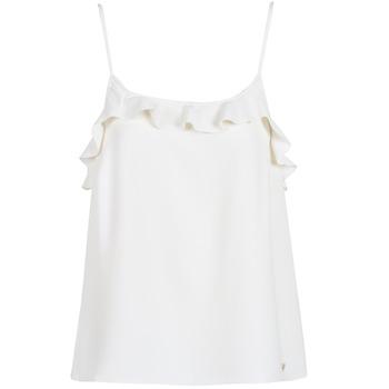 Oblačila Ženske Majice brez rokavov Les Petites Bombes AZITAFE Bela