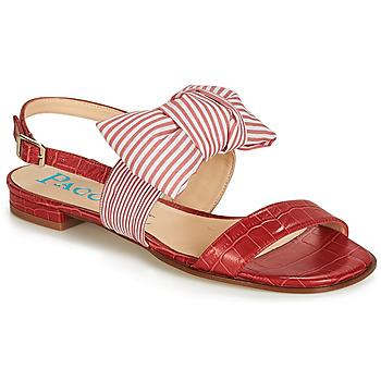 Čevlji  Ženske Sandali & Odprti čevlji Paco Gil BOMBAY Rdeča