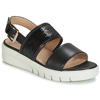 Čevlji  Ženske Sandali & Odprti čevlji Geox D WIMBLEY SANDAL Črna