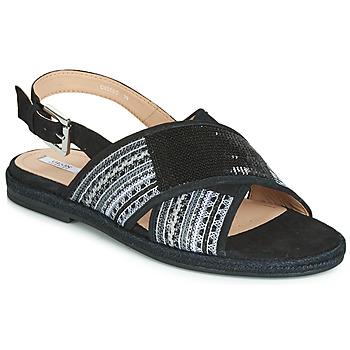 Čevlji  Ženske Sandali & Odprti čevlji Geox D KOLEEN Črna