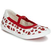 Čevlji  Deklice Balerinke Geox J KILWI GIRL Bela / Rdeča