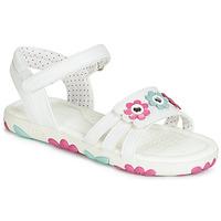 Čevlji  Deklice Sandali & Odprti čevlji Geox J SANDAL HAITI GIRL Bela