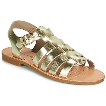 Čevlji  Deklice Sandali & Odprti čevlji Geox J SANDAL VIOLETTE GI Pozlačena