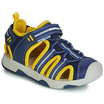 Čevlji  Dečki Sandali & Odprti čevlji Geox B SANDAL MULTY BOY Modra / Rumena