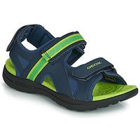 Čevlji  Dečki Športni sandali Geox J GLEEFUL BOY Modra / Rumena