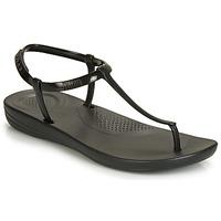 Čevlji  Ženske Japonke FitFlop IQUSHION SPLASH - PEARLISED Črna