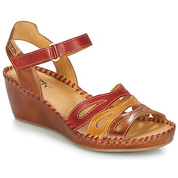 Čevlji  Ženske Sandali & Odprti čevlji Pikolinos MARGARITA 943 Rdeča / Kostanjeva