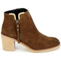 Čevlji  Ženske Gležnjarji Porronet Boots 4032 Marron Kostanjeva