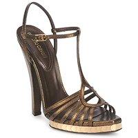 Čevlji  Ženske Sandali & Odprti čevlji Roberto Cavalli QDS627-PM027 Bronze