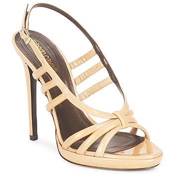 Čevlji  Ženske Sandali & Odprti čevlji Roberto Cavalli QDS626-PL028 Bež