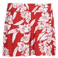 Oblačila Ženske Kratke hlače & Bermuda Volcom ALOHA HA SHORT Rdeča