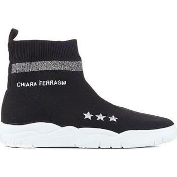 Čevlji  Ženske Visoke superge Chiara Ferragni CF1948 BLACK nero