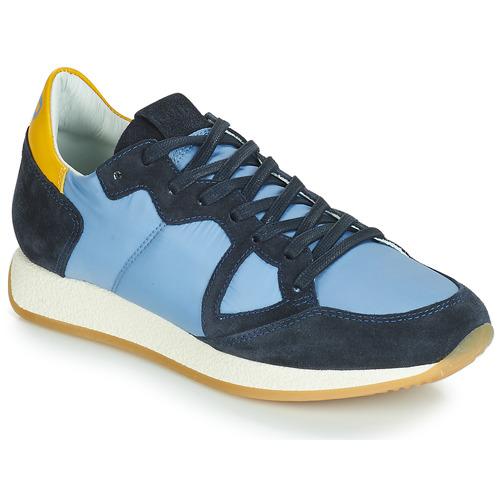 Čevlji  Ženske Nizke superge Philippe Model MONACO VINTAGE BASIC Modra / Rumena