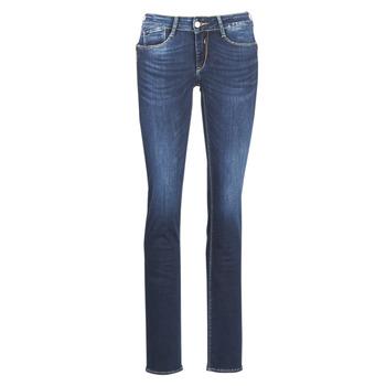 Oblačila Ženske Jeans straight Le Temps des Cerises PULP REGULAR Modra