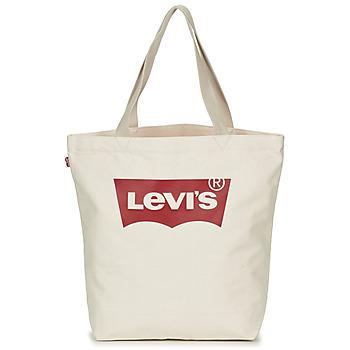 Torbice Ženske Nakupovalne torbe Levi's Batwing Tote W Kremno bela