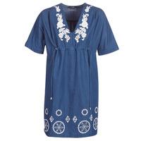 Oblačila Ženske Kratke obleke Desigual ELECTRA Modra
