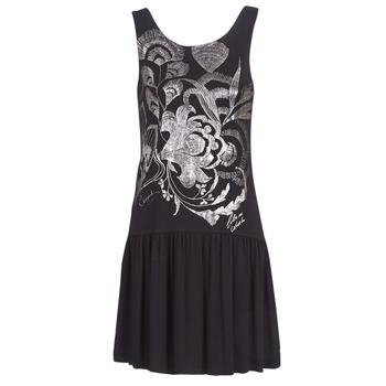 Oblačila Ženske Kratke obleke Desigual OMAHAS Črna