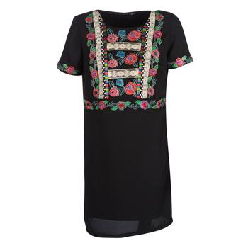 Oblačila Ženske Kratke obleke Desigual TRALEE Črna