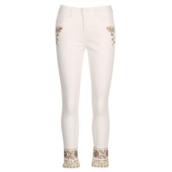 Oblačila Ženske Jeans straight Desigual SARI WHITE Bela