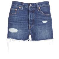 Oblačila Ženske Kratke hlače & Bermuda Levi's 502 HIGH RISE SHORT Modra