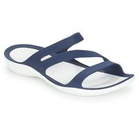 Čevlji  Ženske Natikači Crocs SWIFTWATER SANDAL W Modra