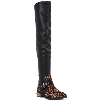 Čevlji  Ženske Visoki škornji Elvio Zanon PONY NAPPA Nero