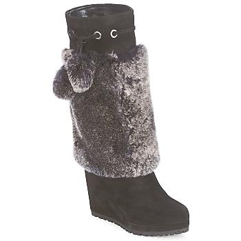 Čevlji  Ženske Mestni škornji    Sebastian NIGOK Črna