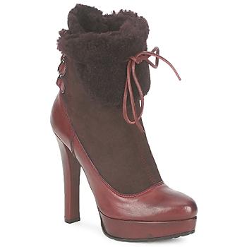 Čevlji  Ženske Gležnjarji Sebastian ELIATY Bordo