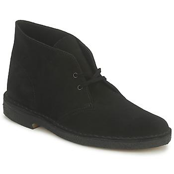 Čevlji  Moški Polškornji Clarks DESERT BOOT Črna