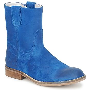 Čevlji  Deklice Polškornji Hip DIRAN Modra